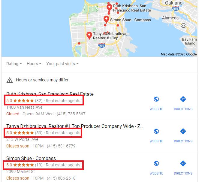 Google My Business Review Star Schema