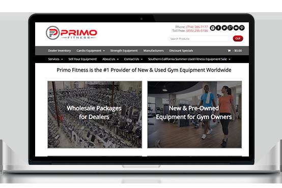 Primo Fitness Laptop Mockup